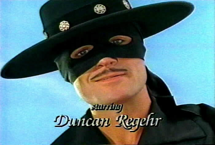 Duncan Regehr is Don Diego de la Vega and Zorro