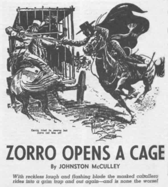 Garcia tried to swerve but Zorro cut him off.