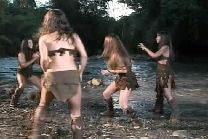 naked girl in battle